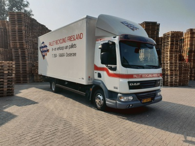 Pallet recycling friesland nieuwe daf bakwagen