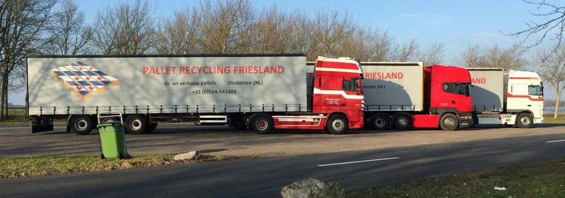 pallet recycling friesland vrachtwagens